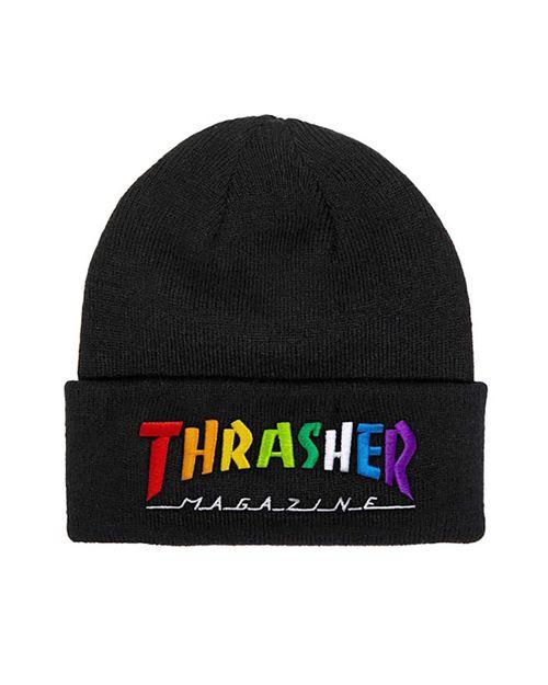 THRASHER BEANIE MAG RAINBOW