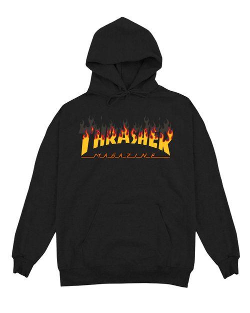 THRASHER HOODIE MEN BBQ FLAME
