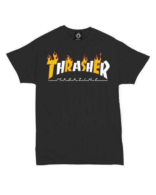 THRASHER T-SHIRT MEN FLAME X MAG