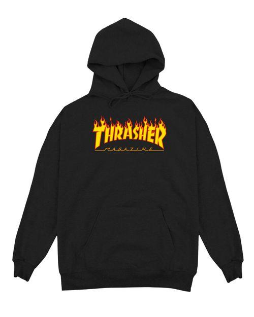 THRASHER HOODIE KIDS FLAME