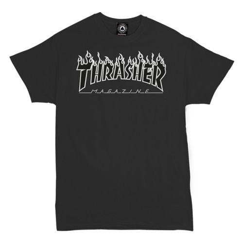 THRASHER T-SHIRT FLAME PATRIOT 2